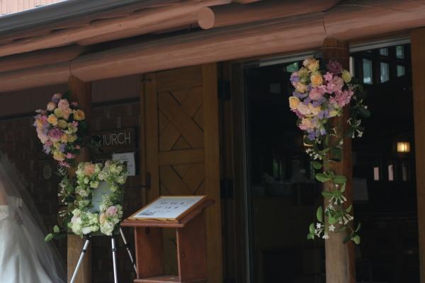 教会の装花 花で作るウエルカムボード 聖オルバン教会様へ_a0042928_17361136.jpg