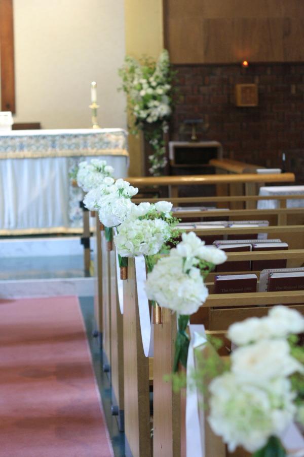 教会の装花 花で作るウエルカムボード 聖オルバン教会様へ_a0042928_17362445.jpg