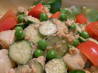 ++旬!の豆が美味しい鉄板ツナドレ++_e0140921_813285.jpg