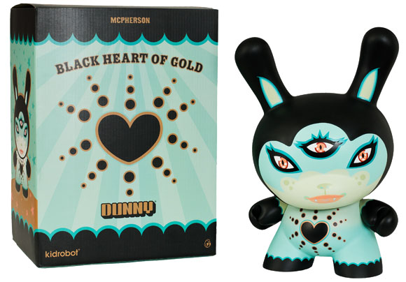 "Black Heart of Gold 20"" Dunny Blue Ed._e0118156_19405132.jpg"