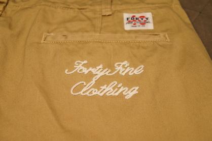【FORTY FINE CLOTHING】新作入荷!!!_f0228575_12523257.jpg