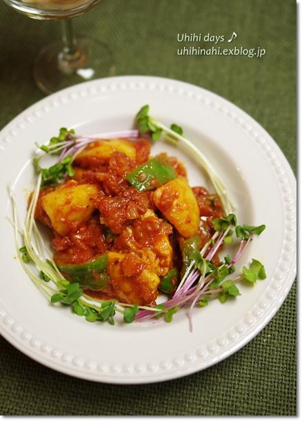 鶏とじゃがいものトマト煮_f0179404_22292352.jpg