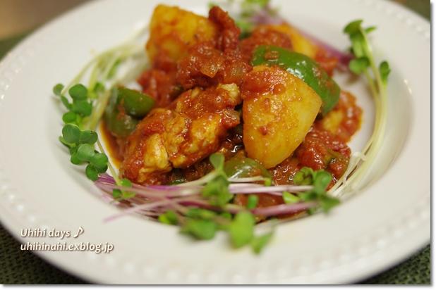 鶏とじゃがいものトマト煮_f0179404_22302177.jpg