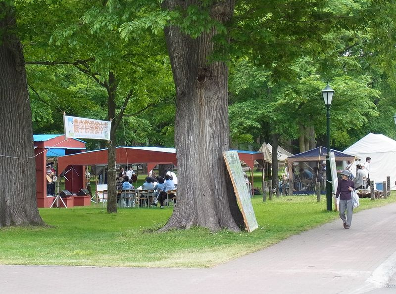 北大祭とイタドリに占拠された駐輪場_c0025115_2032420.jpg