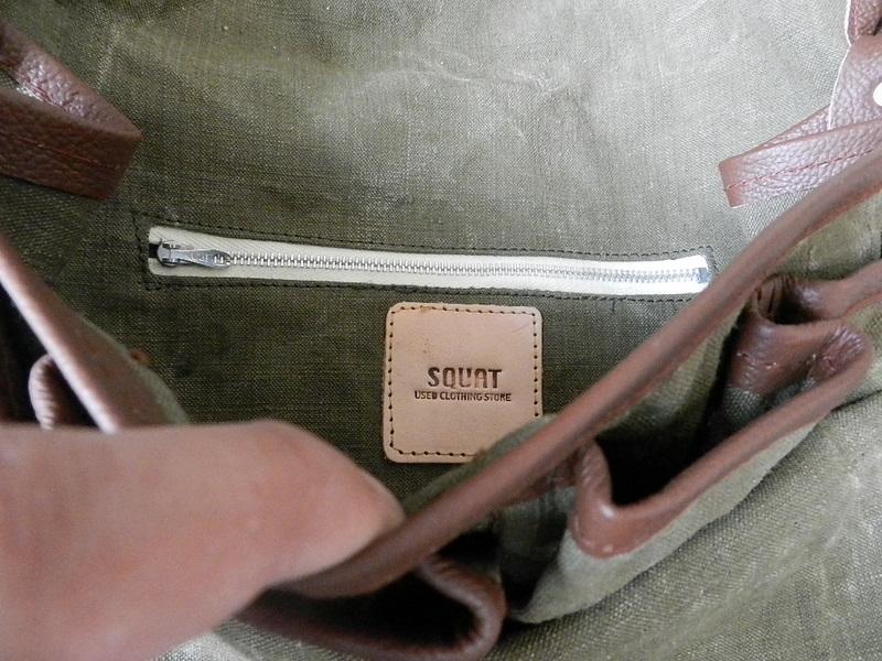 SQUAT original reproduction hunting bag with vintage linen_f0226051_1221851.jpg