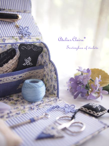 Sewingbox of violets~スミレのピンクッション~close up♪_a0157409_721955.jpg