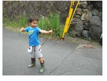 弓矢、にじみ絵・幼児クラス_f0211514_0215615.jpg