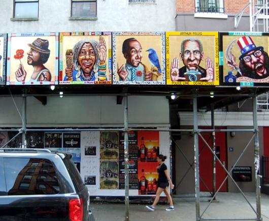 NYの古くから続く劇場街4th Street、別名「フォース・アート・ブロック」のストリート・アート_b0007805_23402387.jpg