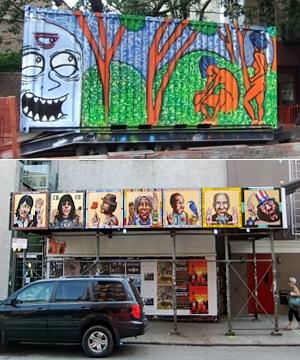 NYの古くから続く劇場街4th Street、別名「フォース・アート・ブロック」のストリート・アート_b0007805_23492080.jpg