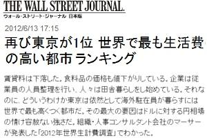 2012年世界生計費調査で東京が1位、ニューヨークは33位_b0007805_22374249.jpg