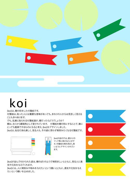 鯉のぼりの付箋紙_e0174913_15564762.jpg