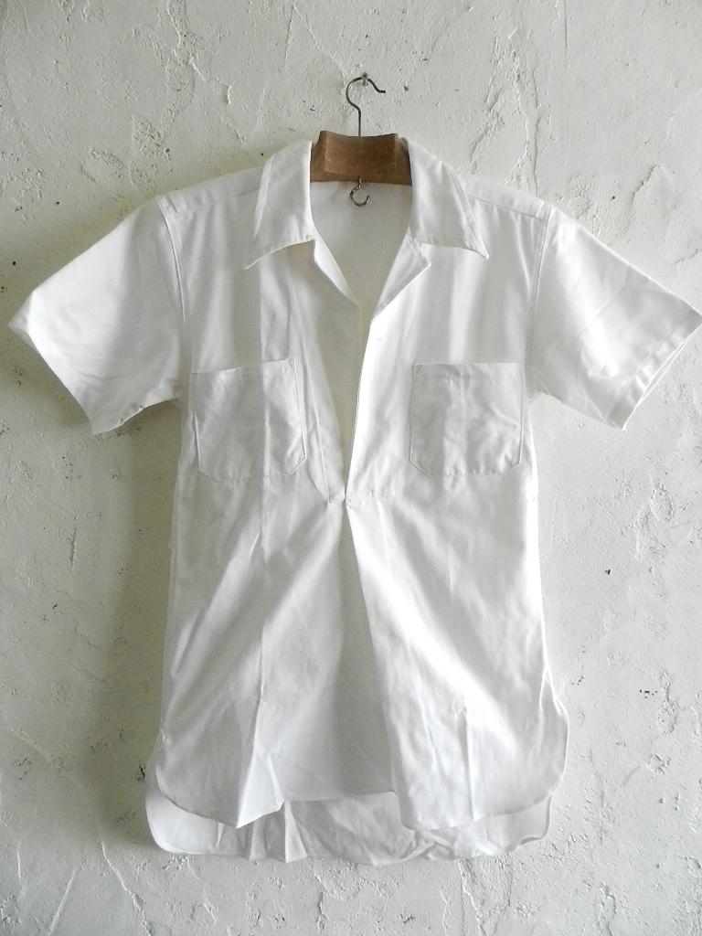 Italian marine white pull over shirts dead stock_f0226051_12163634.jpg