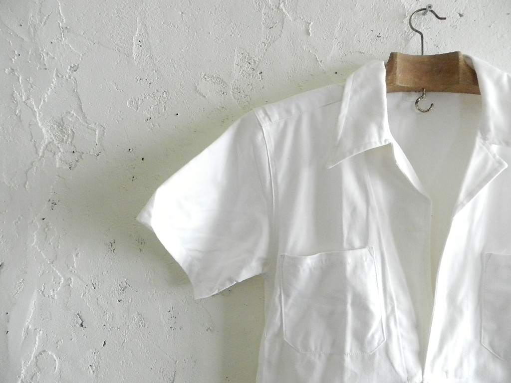 Italian marine white pull over shirts dead stock_f0226051_12165312.jpg