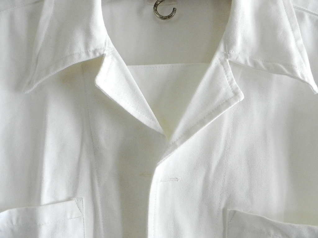 Italian marine white pull over shirts dead stock_f0226051_12192162.jpg