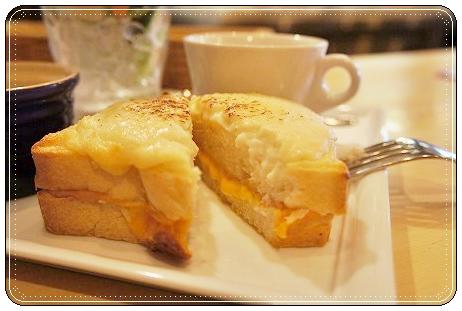 ランジスカフェでクロックムッシュを食べました@阿見_a0091865_16453119.jpg