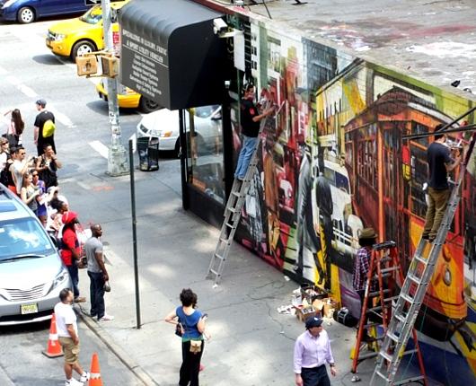 周辺にストリート・アート増加中のニューヨークの空中公園ハイライン_b0007805_20104930.jpg