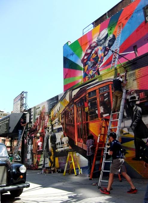 周辺にストリート・アート増加中のニューヨークの空中公園ハイライン_b0007805_20112291.jpg