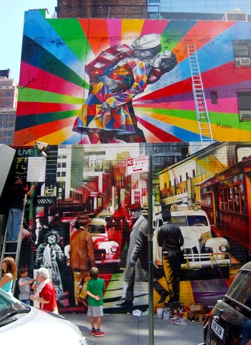 周辺にストリート・アート増加中のニューヨークの空中公園ハイライン_b0007805_20112971.jpg