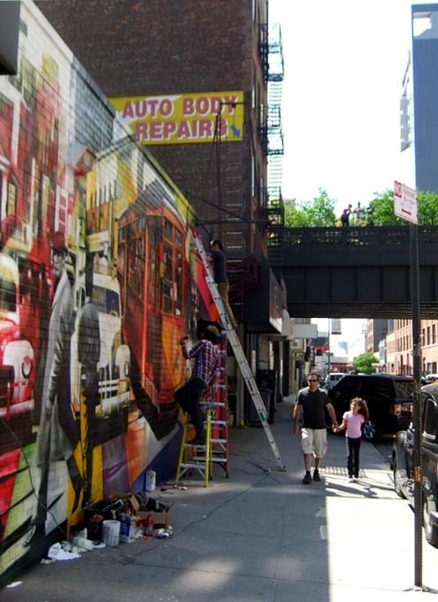 周辺にストリート・アート増加中のニューヨークの空中公園ハイライン_b0007805_20113798.jpg