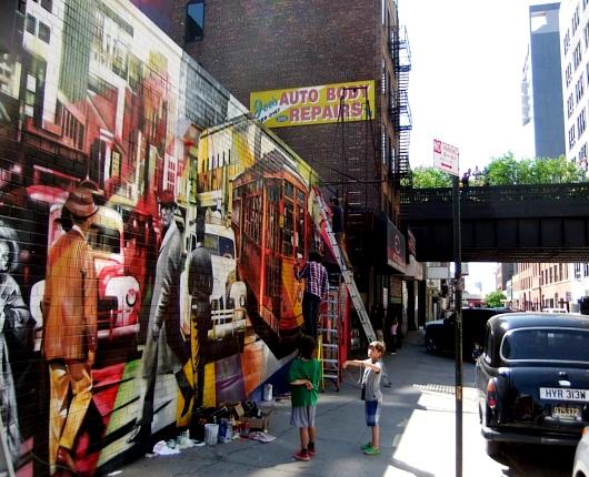 周辺にストリート・アート増加中のニューヨークの空中公園ハイライン_b0007805_2011529.jpg