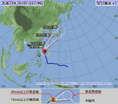 台風4号「Guchol」接近中!:なぜか私の名前「Iguchi」に似ていますナ!?_e0171614_23402952.jpg
