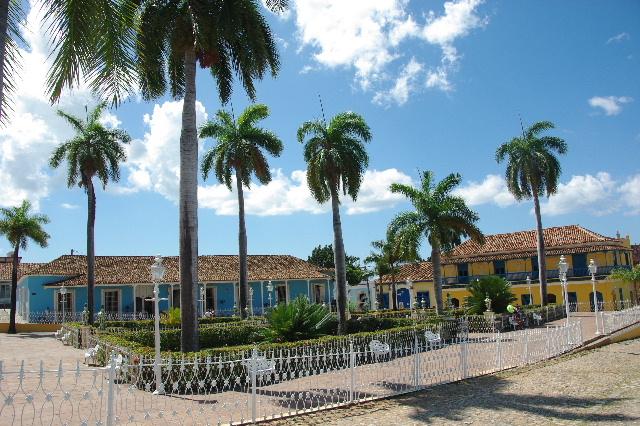 キューバ (35) トリニダー旧市街のマヨール広場_c0011649_423342.jpg