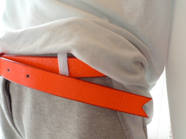 MEREDITH LONG SIMPLE BELT NEON ORANGE:SORRY,SOLD OUT!_f0111683_15373572.jpg