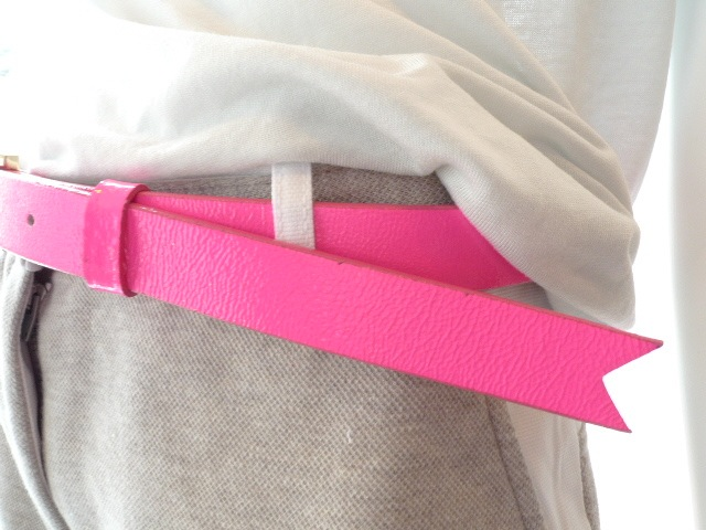MEREDITH LONG SIMPLE BELT NEON ORANGE:SORRY,SOLD OUT!_f0111683_153737100.jpg