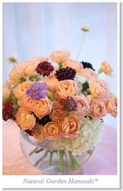 たくさんの頂いたお花を束ねて_e0105296_22554968.jpg