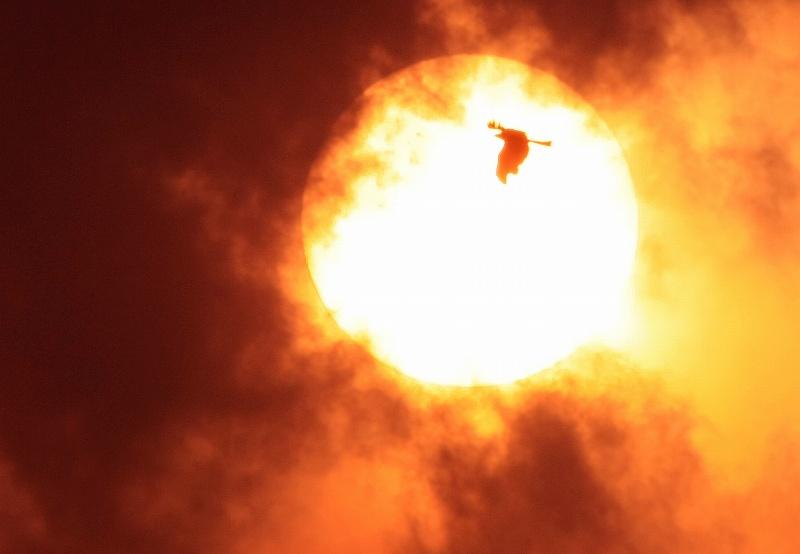 夕陽の中に・・・・・・鳥_d0074828_22215192.jpg