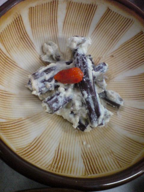わらびの白和え、竹の子とぜんまいの煮物、さわ菜のおひたし。そして「きゃらぶき」。_d0182179_13534610.jpg