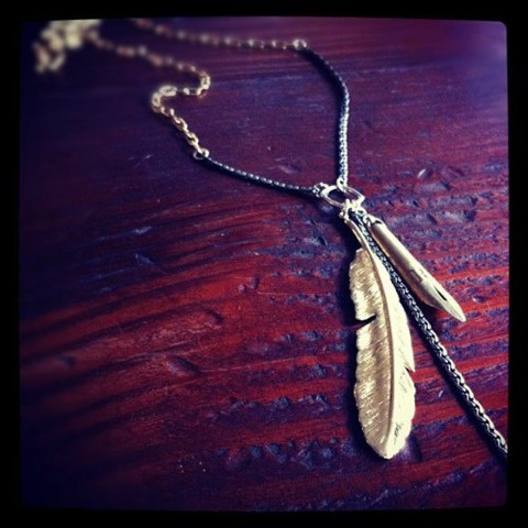 BING BANG JEWELRY CHEROKEE FEATHER NECKLACE 再入荷_f0111683_13545643.jpg
