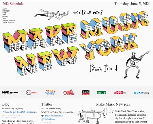 音楽天国ニューヨークならではの大音楽イベント Make Music New York_b0007805_1364245.jpg