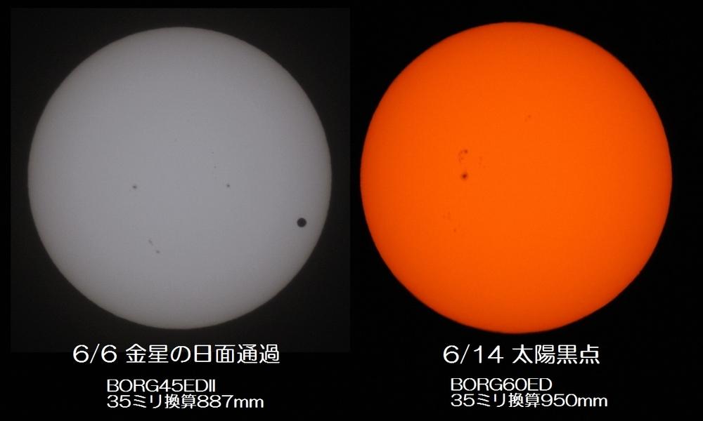 2012年6月14日の太陽黒点と、金星の大きさ比べ_e0089232_1118984.jpg