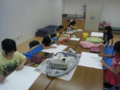 水彩 掃除機・ごちそうを描こう~城陽教室~_f0215199_1217359.jpg