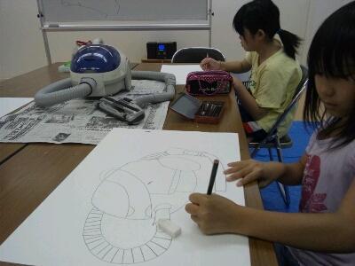 水彩 掃除機・ごちそうを描こう~城陽教室~_f0215199_12182662.jpg