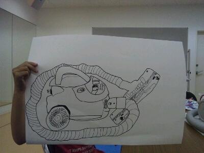 水彩 掃除機・ごちそうを描こう~城陽教室~_f0215199_1243150.jpg
