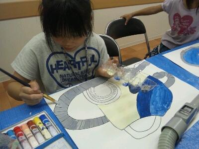 水彩 掃除機・ごちそうを描こう~城陽教室~_f0215199_1246071.jpg