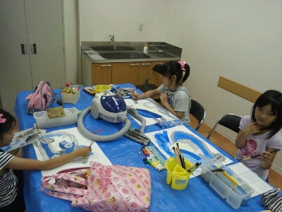 水彩 掃除機・ごちそうを描こう~城陽教室~_f0215199_12463158.jpg