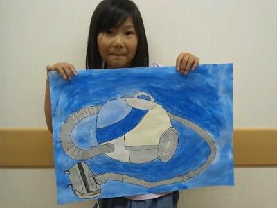 水彩 掃除機・ごちそうを描こう~城陽教室~_f0215199_12484443.jpg