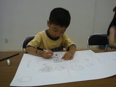 水彩 掃除機・ごちそうを描こう~城陽教室~_f0215199_12514923.jpg