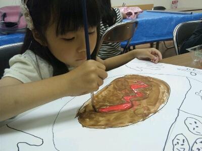 水彩 掃除機・ごちそうを描こう~城陽教室~_f0215199_12541416.jpg