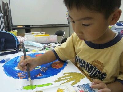 水彩 掃除機・ごちそうを描こう~城陽教室~_f0215199_12593837.jpg