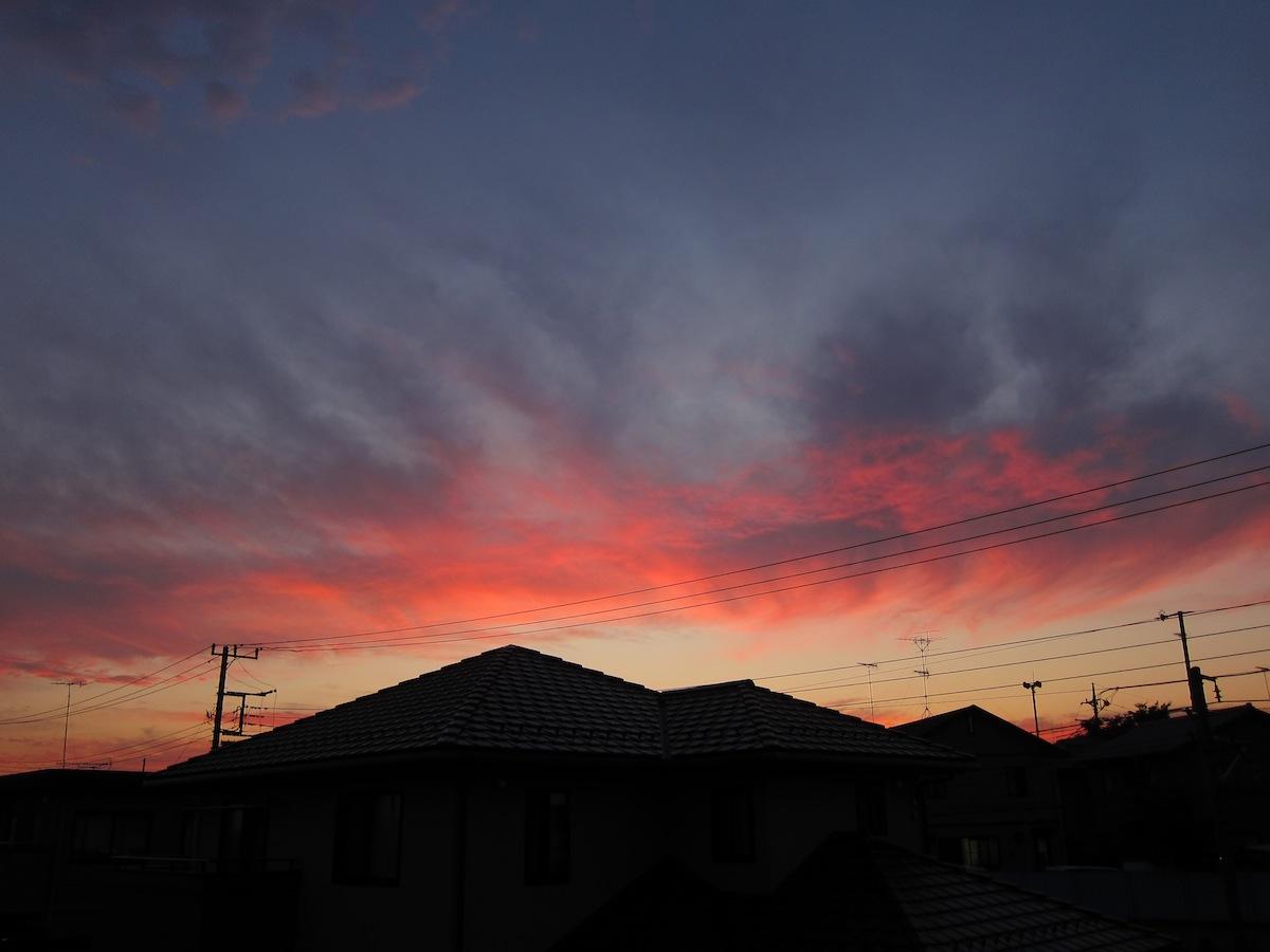 台風一過の夕焼け_f0138807_5515134.jpg
