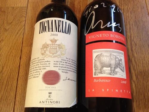 喜寿の祝い  Tignanello 2008    VIGNETO BORDINI 2006_a0194908_16173153.jpg