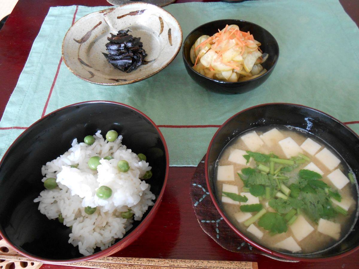 前日夕飯とほぼ同じ内容の朝ご飯_a0095931_9272.jpg