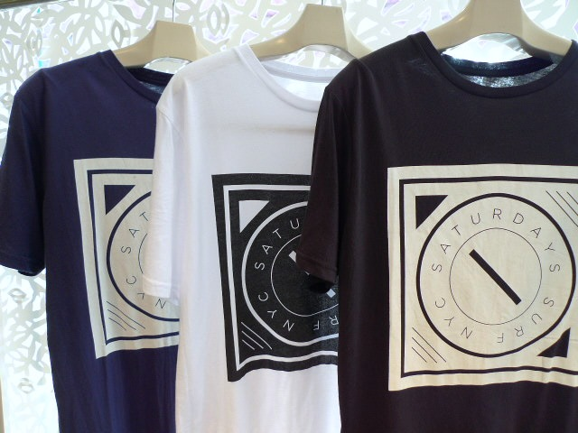 SATURDAYS SURF NYC COMPASS T-SHIRTS_f0111683_12464574.jpg