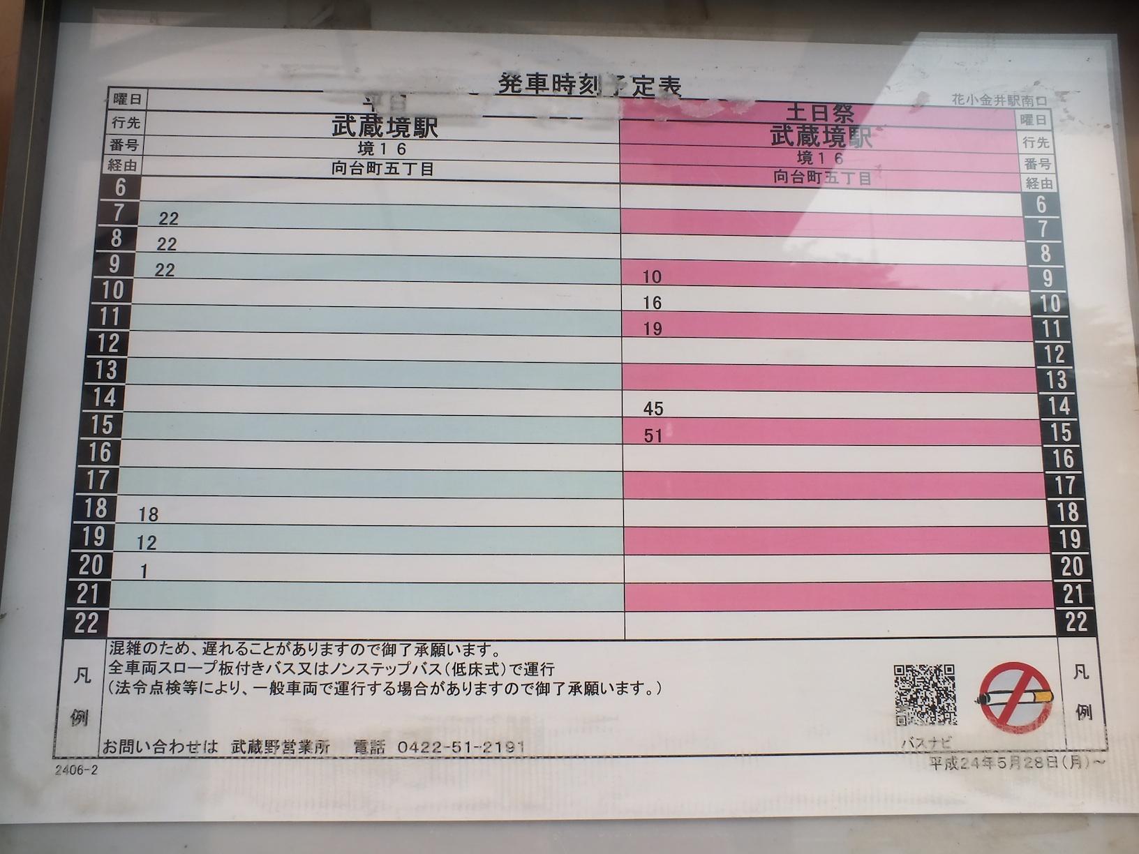 表 関東 バス 時刻