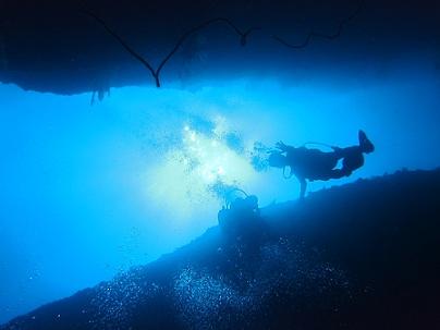 万座でダイビング&青の洞窟シュノーケル_a0156273_1775169.jpg