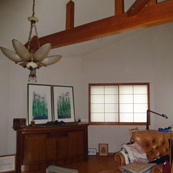 37・木造住宅の改修 「タブノキのある家」の2階居間食堂の現況。_c0195909_15231777.jpg